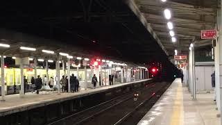 近鉄大阪線 名張駅 祝 行先表示電光掲示板化  3番線アーバンライナー通過