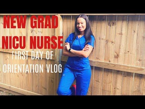 First Day Of My First Nursing Job | New Grad NICU Nurse // ORIENTATION DAY!