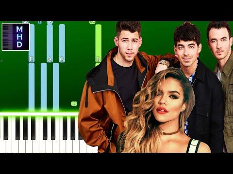 Jonas Brothers - X (feat. Karol G) (Piano Tutorial Easy)