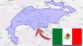 El verdadero tamaño de México