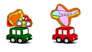 Lehrreicher Zeichentrickfilm - Die 4 kleinen Autos - Das Puzzle