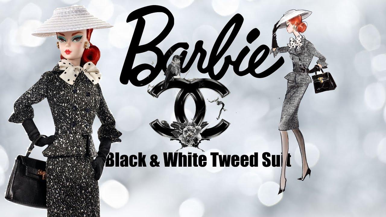 Barbie Black & White Tweed Suit