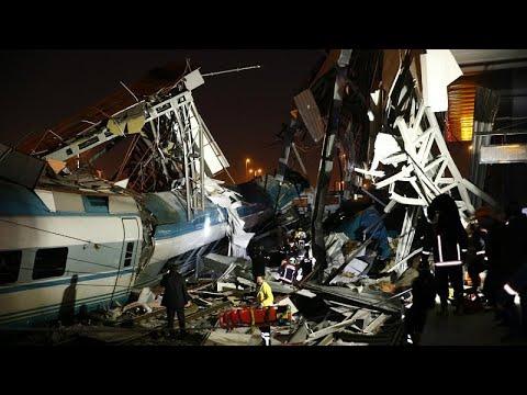 Accidente de un tren de alta velocidad en Ankara