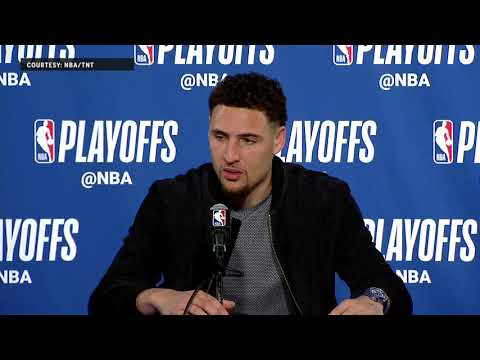 Klay Thompson Press Conference following Game 5 | Warriors Eliminate Spurs
