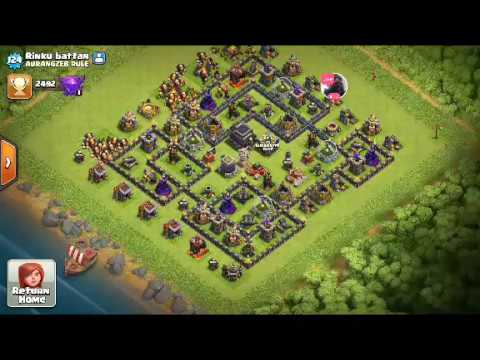Clash of Clans-Balloon Attack & Checking out Viewer bases