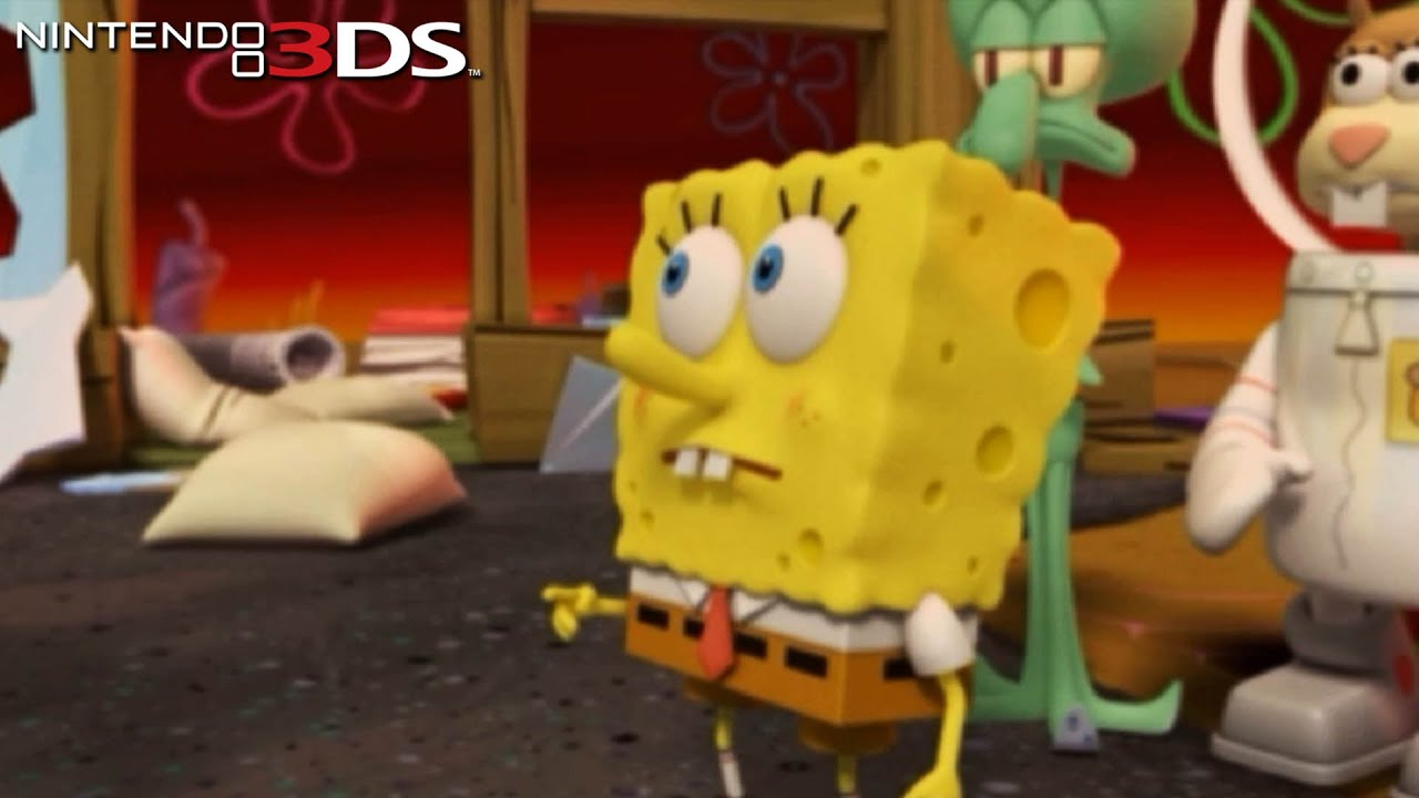 SpongeBob SquarePants: Plankton's Robotic Revenge – Gameplay Nintendo 3DS Capture Card