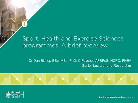 Sport, Health and Exercise Sciences programmes: A brief overview
