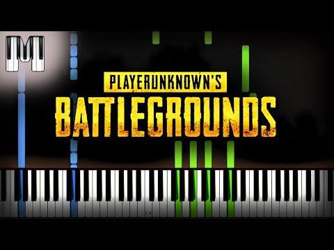 🍳 PUBG - PlayerUnknown's Battlegrounds Intro Theme Song Piano Tutorial (Sheet Music + midi cover) thumbnail