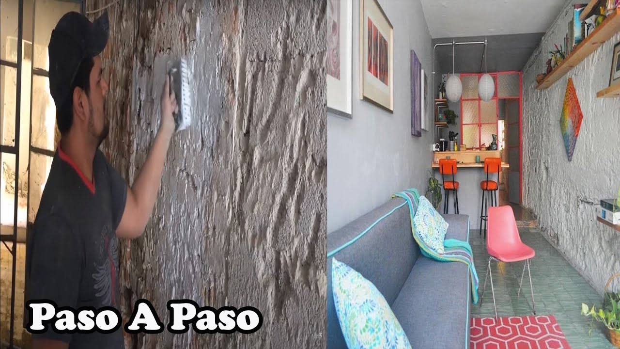 Como pintar una pared de ladrillos youtube - Como empapelar una pared ...