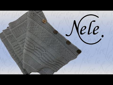 """Schal stricken für Anfänger, Ärmelschal, Loop, Weste """"Knöpfling"""", DIY – Anleitung by Nele C."""