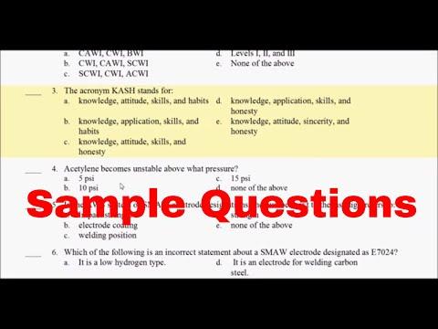 CWI Part A 25 Sample Questions