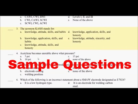CWI 17 -   Part A 25 Sample Questions