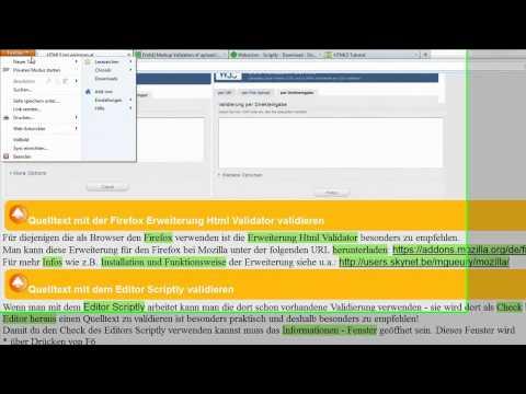 Lektion 20: HTML Und CSS - Quelltext Validieren (überprüfen)