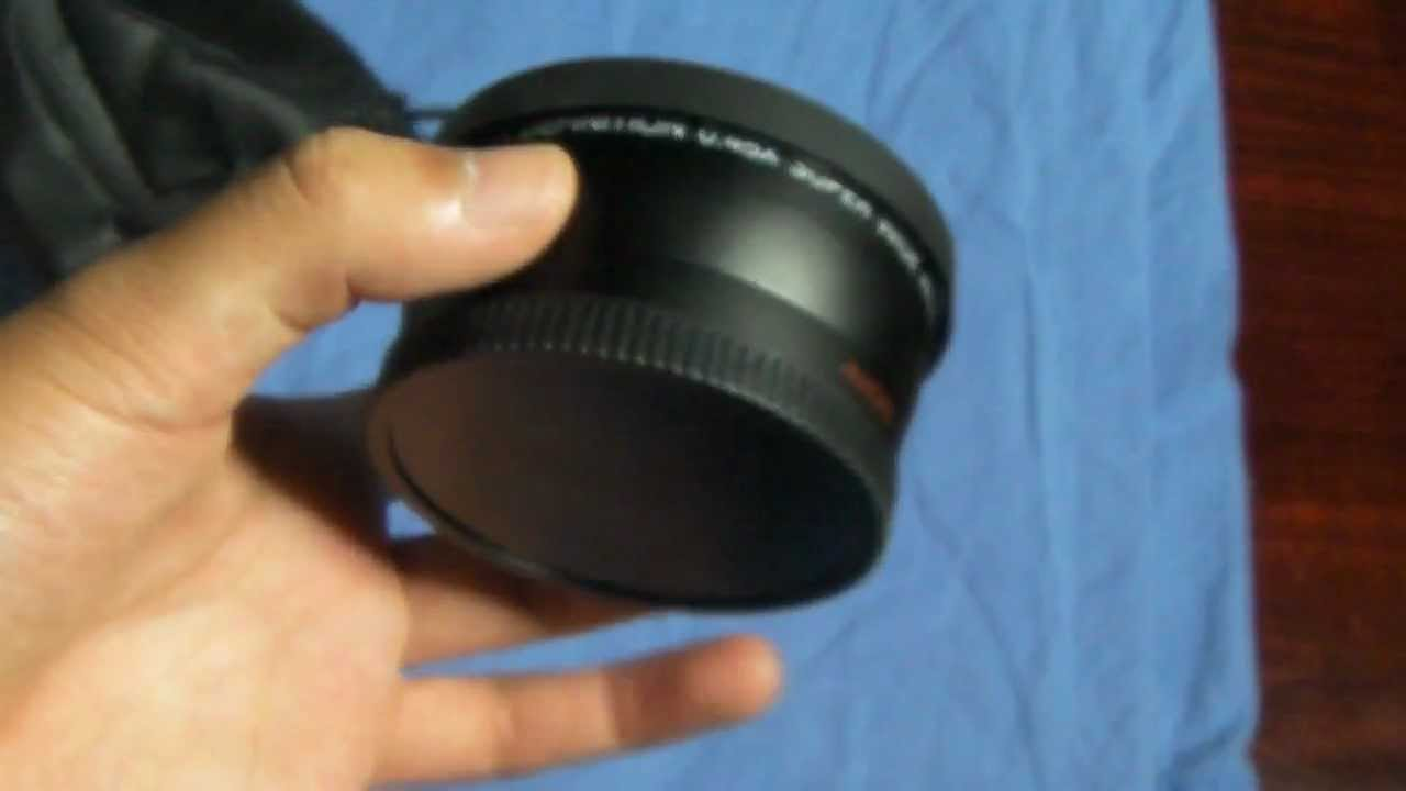 Neewer 58mm 045x Wide Angle Lens Unboxing