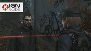 IGNs non lethal ghost walkthrough for Deus Ex Mankind Divideds side missions In part two of Side Mission 1 The Golden Ticket Adam shuts down the