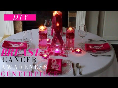 Breast Cancer Awareness Centerpiece | Breast Cancer Awareness Month Decoration