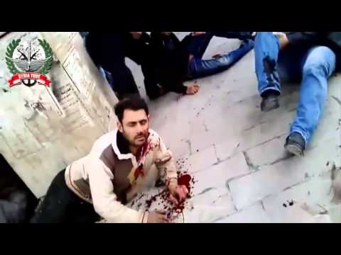18+ not for shock! Ar-Raqqah, Syria - Tens of terrorist killed by SAA missile strike :) 06-03-13