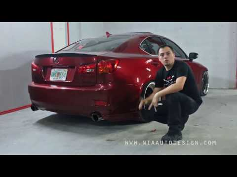 Lexus IS Rear lip spat diffuser aprons how to install DIY