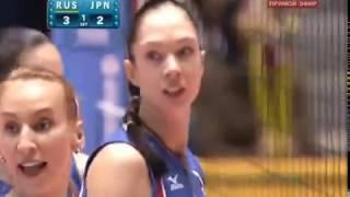 2010 Women's Volleyball World Championship Japan vs Russia Set1