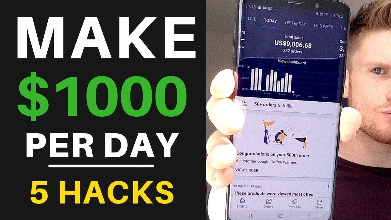 5 Secret Hacks To Make $1000 Per Day | Shopify Dropshipping 2019