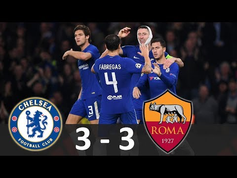 Chelsea vs AS Roma 3-3 - Hasil Champions League 19/10/2017 - Highlights Extended HD