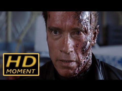 T-800 пытается убить Джона Коннора. Терминатор 3: Восстание машин. 2003.
