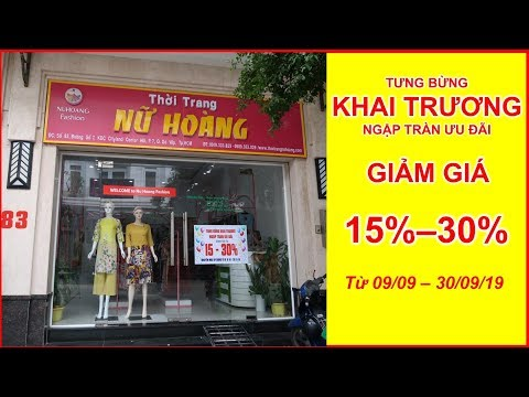 Khai Trương Shop Thời Trang Nữ Hoàng, Đầm Trung Niên, Áo Dài Cách Tân, Đầm Dạ Hội Off 30% Gò Vấp