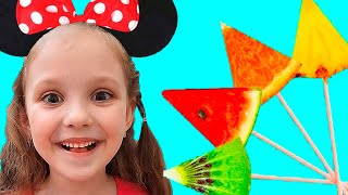 Learn Colors with Fruits Song | Lisa Nursery Rhymes & Kids Songs
