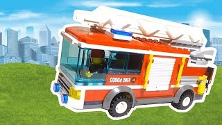 Fire Truck, Police Cars, Toy Vehicles for Kids. Lego cartoon for children #2