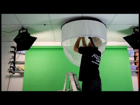 alzo drum overhead light assembly and installation youtube. Black Bedroom Furniture Sets. Home Design Ideas