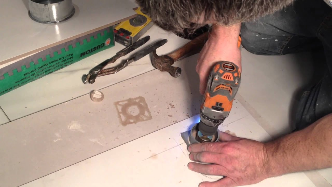 How To Cut A Round Hole In Porcelain Tile | Tile Design Ideas