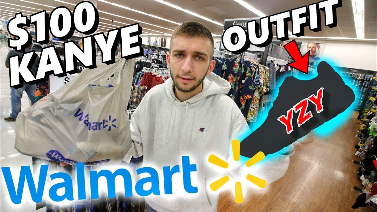 bc71dd36da896  100 WALMART OUTFIT KANYE CHALLENGE! YEEZY SNEAKER FAKES FOUND - YouTube