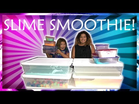 Thumbnail: MIXING ALL OUR GIANT SLIMES - GIANT SLIME SMOOTHIE