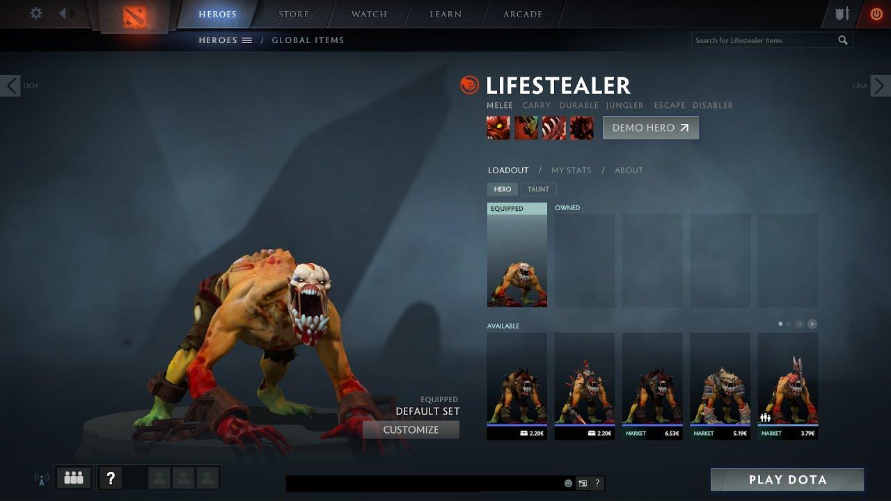 dota 2 lifestealer gameplay demo youtube