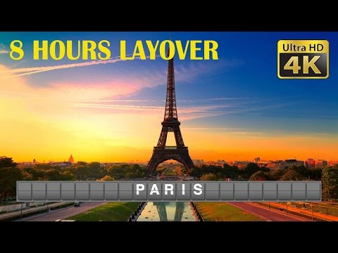 DIY Layover (4K) - 8 Hour in Paris: Eiffel Tower, Luxembourg Garden, Notre Dame, Arc de Triomphe
