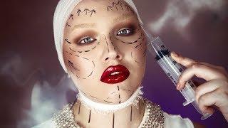 halloween plastic fantastic makeup tutorial