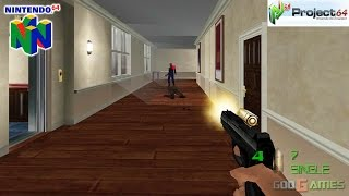 007: The World is Not Enough - Gameplay Nintendo 64 1080p (Project 64)