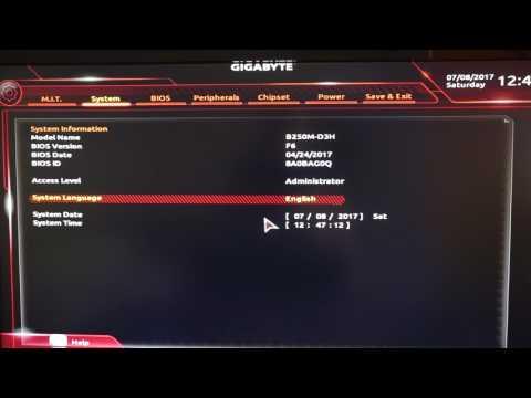 Gigabyte B250M-D3H BIOS
