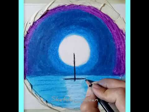 Easy oil pastel painting for kids and beginners #painting #drawing #art #craft #oilpastel #kids