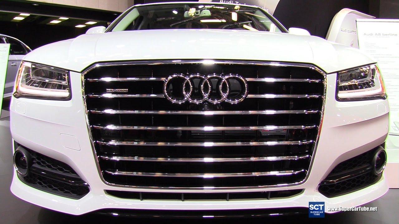 2017 audi a8 4 0 tfsi quattro exterior and interior for Audi a8 exterior 2017