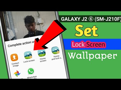How To Set Lock Screen Wallpaper In Samsung J2 Pro J2 2016 Youtube