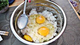 5 MINUTE Easy Egg Fried Rice! | 쉬운 계란 볶음밥