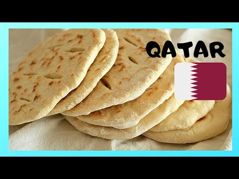QATAR, baking fresh and hot pita bread in DOHA