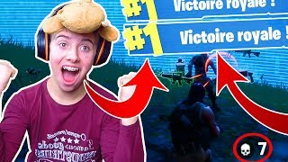 OUIII !!! ENFIN ! MON TOUT PREMIER TOP 1 SUR FORTNITE AVEC 7 KILLS !? - Top 1 Fortnite Battle Royale