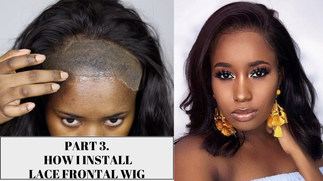 How I Install A Lace Frontal Wig Stocking Cap Got2b Glue