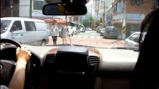 道路のバンプ(韓国・昌原市)