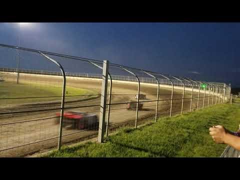 7-27-19 Junction Motor Speedway Late Model Heat Cory Dumpert  .  Parks it 🏁🏁