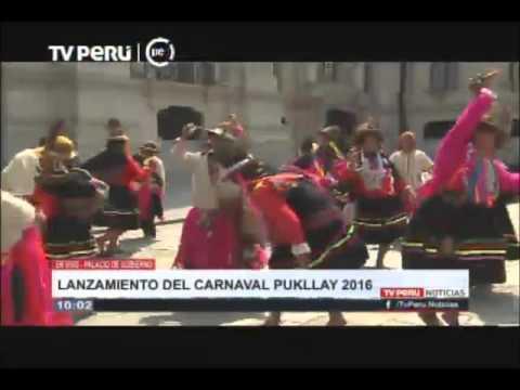 Presentan Carnaval Pukllay 2016 en Palacio de Gobierno