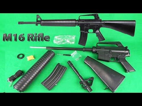 Детская игрушечная пневматическая винтовка М 16 на пульках  Rile M 16 Toy