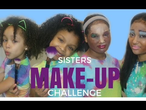 dani and dannah sister make up challenge ft big sisters dajuel and dayla youtube. Black Bedroom Furniture Sets. Home Design Ideas